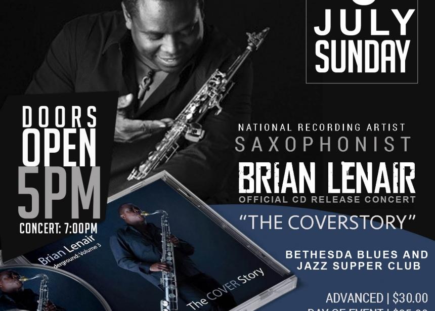 Saxophonist Brian Lenair