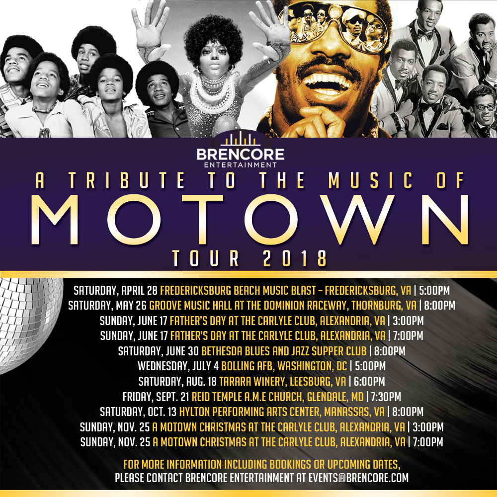 "A Tribute To The Music of MOTOWN"" featuring THE BRENCORE ALLSTARS BAND"