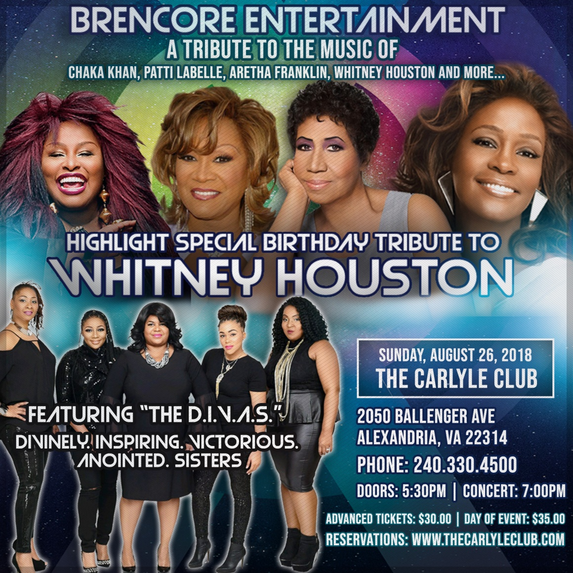A Tribute to the Music of Chaka Khan, Patti LaBelle, Aretha Franklin