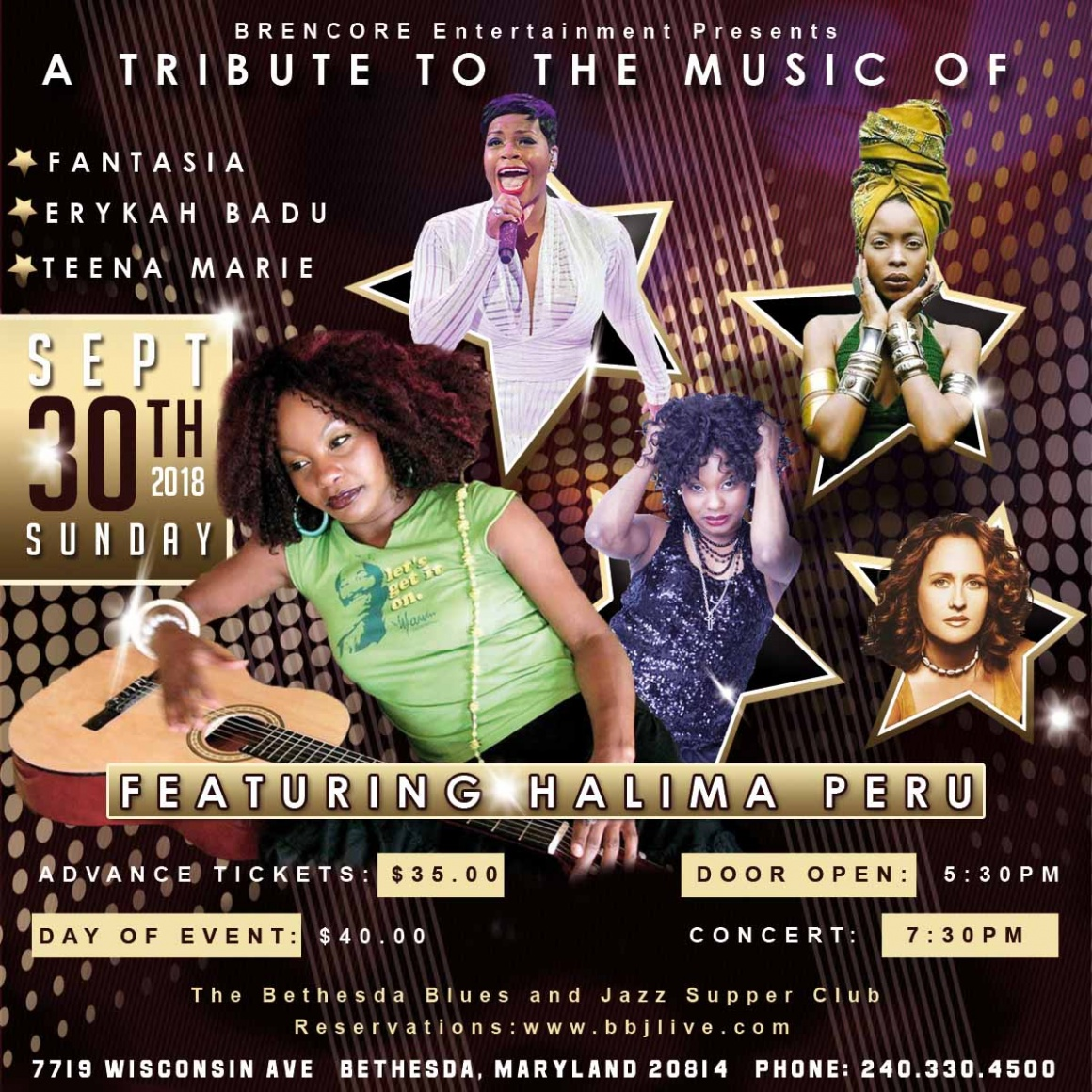 A Tribute to the Music of Fantasia, Erykah Badu and Teena Marie