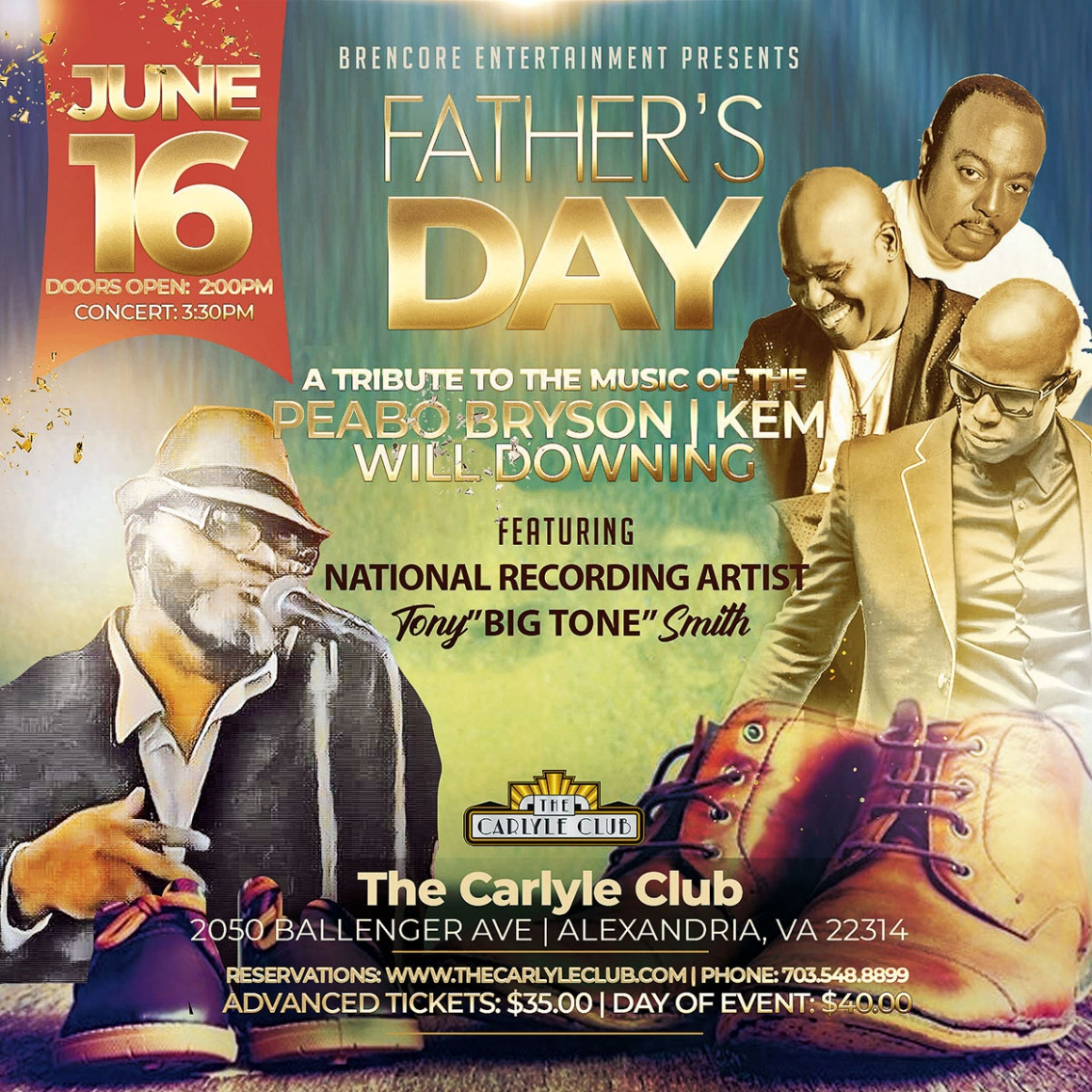 A Tribute to the music of the Peabo Bryson, Kem, Will Downing