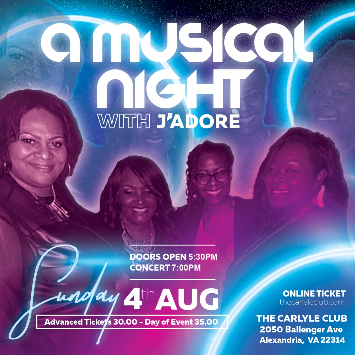 A Musical Night with J'Adore
