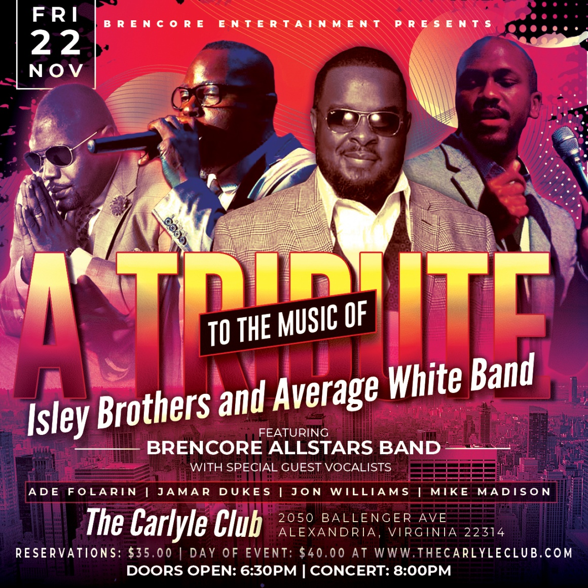 A Tribute to the Music of Isley Brothers and Average White Band