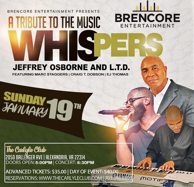A Tribute to the Whispers, Jeffery Osborne and L.T.D.