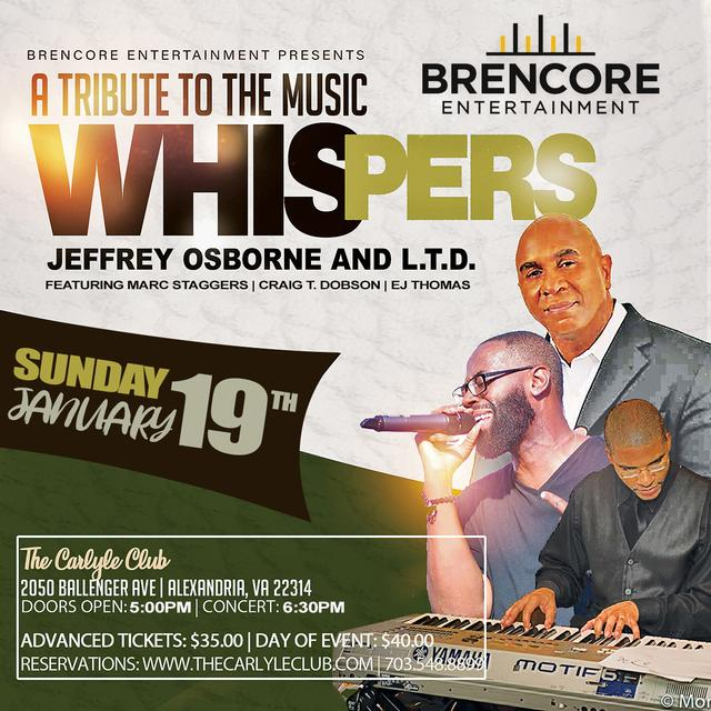 A Tribute to the Music of Whispers, Jeffery Osborne and L.T.D.