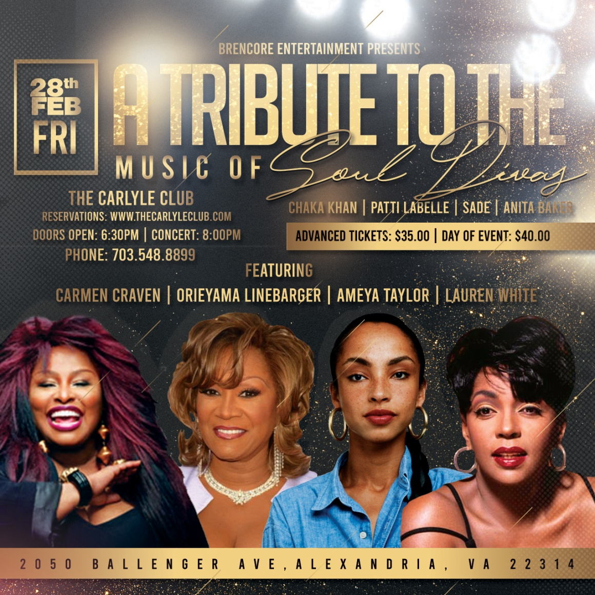 Soul Divas Flyer at the Carlyle Club