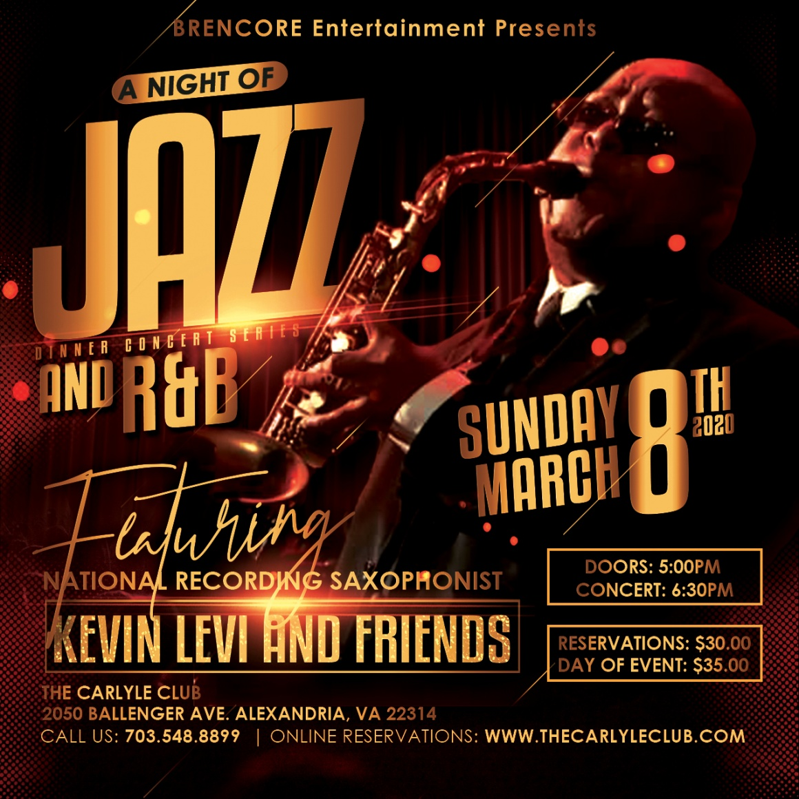 A Night of Jazz and R&B featuring Saxophonist Kevin Levi and Friends