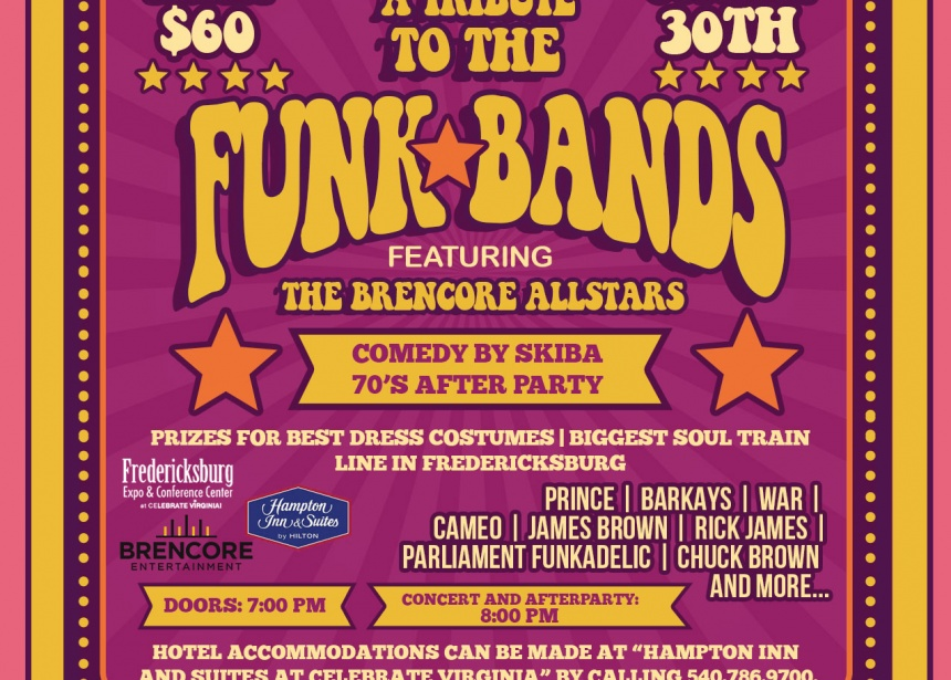 A Tribute the the FUNK Bands, Dinner Comedy Show, and 70's After Party