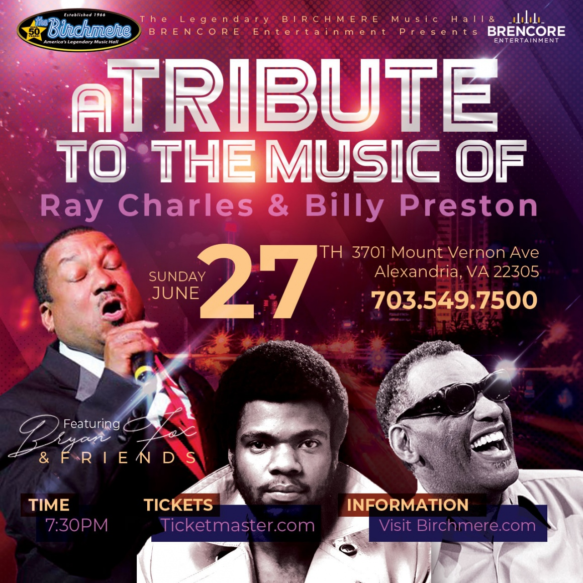 A Tribute to the Music of Ray Charles & Billy Preston